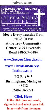 Christian Success Institute ad even