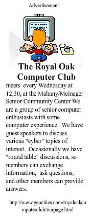 Royal Oak Computer Club add